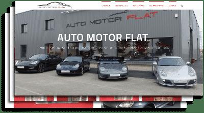 écran site web automotorflat création graphique