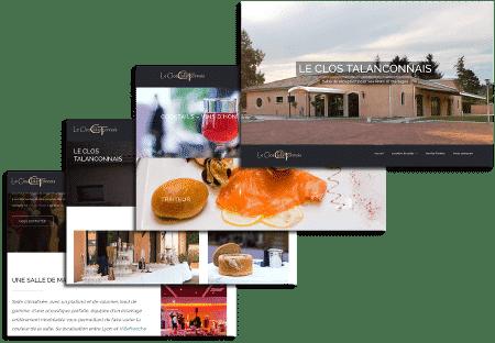 Exemple de création de site web sur Villefranche sur Saone et Lyon