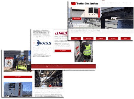 écrans création site web lyon stationclimservices.fr