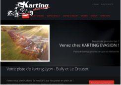 Ecran d'un site web d'une piste de karting