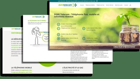 écrans site web DSMI telecom Limas 69400
