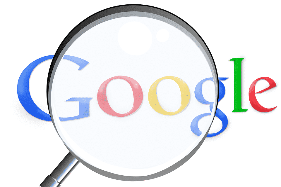 google avec une loupe