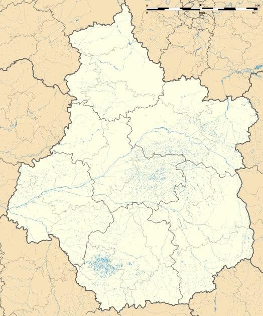 Carte Centre Val de Loire