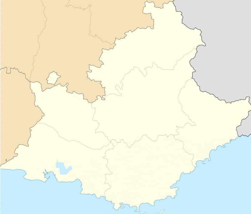 Carte région Sud